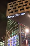 Sony Center la nuit, Berlin, Allemagne Images libres de droits
