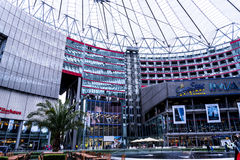 The Sony Center is located near the Berlin Potsdamer Platz railway station. Sony Center contains a mix of shops, restaurants, a conference centre, hotel rooms Royalty Free Stock Photography