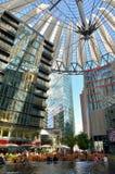 Sony Center på Potsdamer Platz Arkivfoto