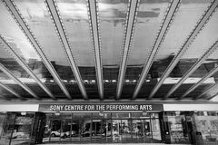 Sony Center for the Performing Arts, Toronto. Toronto, Canada - September 5, 2015: Detail of the main entrance to the Sony Centre for the Performing Arts, a Royalty Free Stock Photography