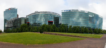 Sony Center at Potsdamer Platz. BERLIN, GERMANY - JUNE 06, 2014: Sony Center at Potsdamer Platz. Berlin. Germany. Panorama. Modern office and shopping and Stock Images