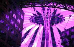 Sony center in Potsdamer Platz in Berlin, Germany. Sony center in Potsdamer Platz in Berlin Germany at night Stock Images