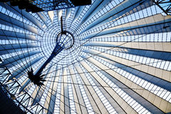 Sony Center (Potsdamer Platz) in Berlin (Germany). The roof at Sony Center, Potsdamer Platz, Berlin, Germany royalty free stock images