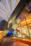 Sony Center on Potsdamer Platz at night. GERMANY, BERLIN - January 24, 2015 : Sony Center on The Potsdamer Platz at night. Potsdamer platz, destroyed during stock images
