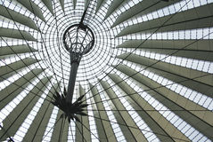 Sony Center roof in Berlin Stock Photography