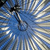 Sony center roof construction. Sony center Berlin roof construction Royalty Free Stock Photos