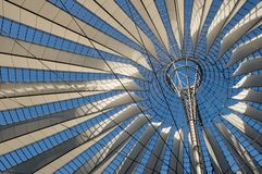 Sony Center roof at Potsdamer Platz, Berlin. Roof of the Sony Center, built in 4 years, from 1996 to 2000 Stock Photos
