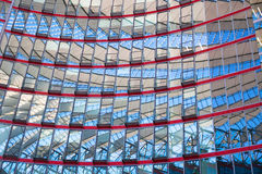 Sony Center roof at Potsdamer Platz, Berlin Royalty Free Stock Image