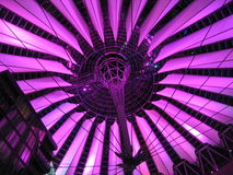 Sony Center Top. Berlin's Sony Center's top by night stock photography
