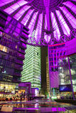Sony centre at night. Potadmer platz, Berlin - Germany. BERLIN, GERMANY - APRIL 6: Sony centre at night in Potsdamer platz in Berlin on April 6, 2017 in Berlin stock images