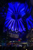 Sony Centre on Postadmer Platz to night lightin Royalty Free Stock Image