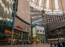 Sony Centre, Potsdamer Platz in Berlijn, Duitsland Stock Afbeeldingen