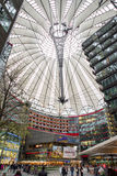 Sony centre in Potsdamer platz, Berlin - Germany. BERLIN, GERMANY - APRIL 6: Sony centre in Potsdame platz in Berlin on April 6, 2017 in Berlin stock photography