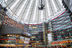 Sony centre in Potsdamer platz, Berlin - Germany. BERLIN, GERMANY - APRIL 6: Sony centre in Potsdame platz in Berlin on April 6, 2017 in Berlin royalty free stock photography