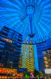 Sony Centre, Potsdamer Platz in Berlin, Germany. Purple and blue roof at sony Centre, Potsdamer Platz, Germany royalty free stock photos