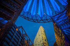 Sony Centre, Potsdamer Platz em Berlim, Alemanha Foto de Stock