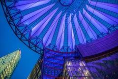 Sony Centre Potsdamer Platz i Berlin, Tyskland Fotografering för Bildbyråer