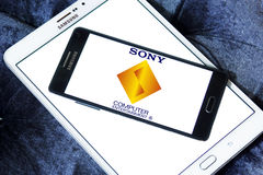Sony computer entertainment logo. Logo of game developer company sony computer entertainment on samsung mobile phone a5 Royalty Free Stock Image