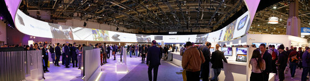 Sony Convention Booth bij CES stock foto's