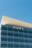 Sony Corporate Headquarters Sign and Logo. LOS ANGELES, CA/USA - SEPTEMBER 11, 2016: Sony United States Headquarters and Logo. is a Japanese multinational Stock Photos