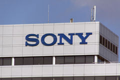 Sony Corporation electronics company. Amsterdam, Netherlands-february 27, 2016: Sony Corporation electronics company is primarily active in consumer electronics stock photos