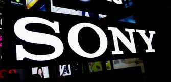 Sony Corporation is a Japanese multinational conglomerate corporation professional electronics, gaming and entertainment branding. NONTHABURI, THAILAND – On Royalty Free Stock Images