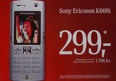 SONY ERICSSON K608i MODEL. Sony Erirccson K600i Model commercial Copenhagen Denmark Sept.21,2005 .(Photo by Francis Dean/Dean Pictures Royalty Free Stock Photography