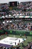 Sony Ericsson Open in Miami, Florida. Closing ceremony at Sony Ericsson Open in Miami, USA at April 1, 2012.  Novak Djokovic defeating Andy Murray 6-1, 7-6(4) to Stock Photos