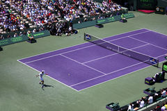 Sony Ericsson Open in Miami, Florida. Tennis court at Sony Ericsson Open in Miami, USA at April 1, 2012.  Novak Djokovic defeating Andy Murray 6-1, 7-6(4) to Stock Image