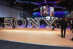 Sony Exhibit an CES 2019 stockbilder