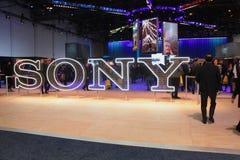 Sony Exhibit en CES 2019 imagenes de archivo