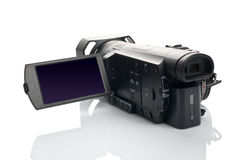 Sony FDR AX100 4k UHD Handycam Camcorder. NOVI SAD, SERBIA - APRIL 25, 2015: Sony FDR AX100 4k Handycam Camcorder (announced in 2014.) captures Ultra High Royalty Free Stock Image