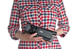 Sony FDR AX100 4k UHD Handycam Camcorder Royalty Free Stock Images