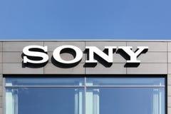 Sony kontorsbyggnad i Danmark Fotografering för Bildbyråer