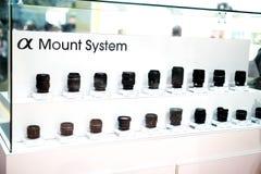 Sony Lens-Auswahl Lizenzfreie Stockbilder
