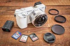 Sony A6000 mirrorless digital camera Stock Image