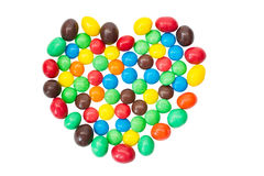 SONY multicolored,  colorful candy, sweets in the. Multicolored,  colorful candy, sweets in the shape of hearts isolated on a white background Stock Photo