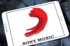 Sony Music Entertainment logo obrazy stock
