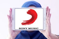 Sony Music Entertainment logo zdjęcia stock