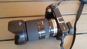 Sony nex 6 with tamron 18 200 Royalty Free Stock Photos