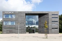 Sony office building in Denmark. Ballerup, Denmark - September 10, 2017: Sony office building. Sony is a Japanese multinational conglomerate corporation that is Stock Photo