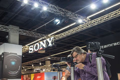 Sony in Photokina 2016 Royalty-vrije Stock Afbeelding
