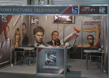Sony Pictures Television booth Stock Photo