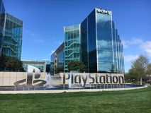 Sony PlayStation Corporate Headquarters Image stock