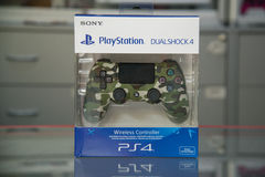 Sony playstation dualshock 4 controller Green camouflage Royalty Free Stock Image