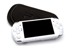 Sony Playstation Portable (PSP). Closeup on white background royalty free stock images