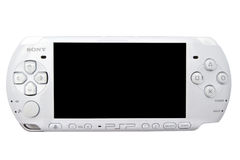 Sony Playstation Portable (PSP). Closeup on white background stock images