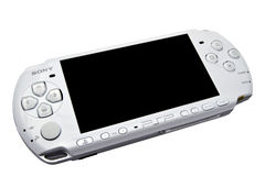 Sony Playstation Portable (PSP). Isolated on white background royalty free stock photo
