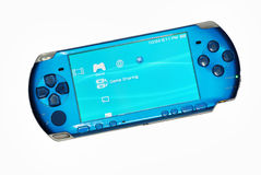 Sony portable video game. Sony playstation portable video game (PSP) isolated on white background royalty free stock photo