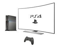 Sony PS 4 - console voor spel Royalty-vrije Stock Fotografie